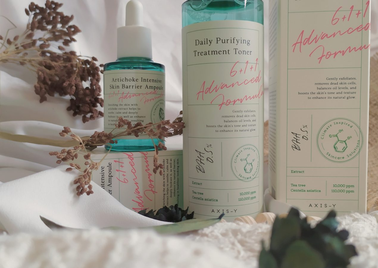 [Review] AXIS-Y Daily Purifying Treatment Toner & Artichoke Intensive Skin Barrier Ampoule Review